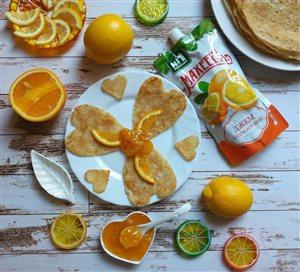 Блинчики 'цитрусовые'  с апельсиновым джемом  Махеевъ