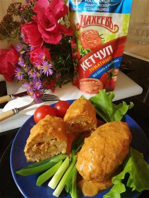 Наноголубцы с кетчупом 'Махеевъ'