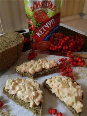 Салатик на все случаи жизни с кетчупом 'Махеевъ' без сахара и крахмала.