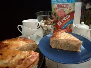 Пирог Улитка с кетчупом 'Махеевъ' без сахара и крахмала!