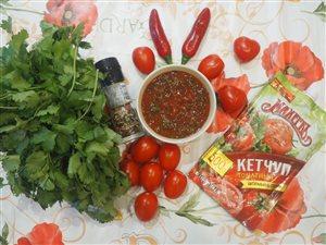 Острый соус с кинзой и томатным кетчупом Махеевъ.