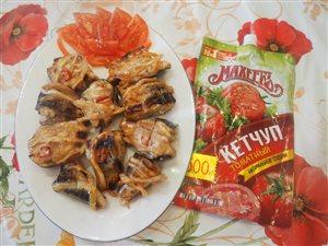 Рыбка-гриль маринованная с кетчупом Махеевъ.