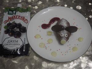 Десерт 'Мышка' с джемом Махеевъ.