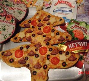 Пицца 'Новогодняя ёлочка' по-Махеевски