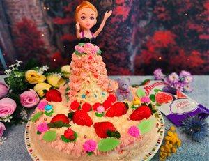 Торт 'Весна' с кремом Шарлотт и джемом Махеев.