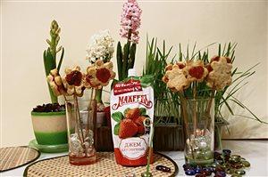 Цветы с клубничным джемом 'Махеев' к 23 февраля