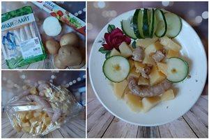 Картошка с колбасками Индилайт в рукаве