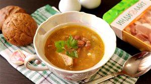 Фасолевый суп с ароматом копчения