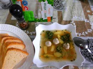 Овощной супчик с фрикадельками из индейки 'ИНДИЛАЙТ'