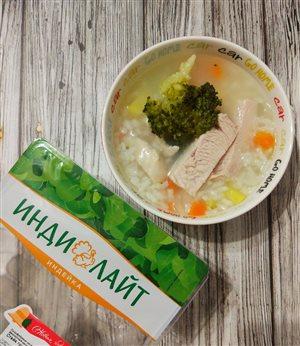 Суп с индейкой 'ИНДИЛАЙТ' и брокколи
