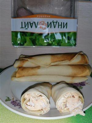 Жаренные блинчики с филе индейки 'Индилайт'