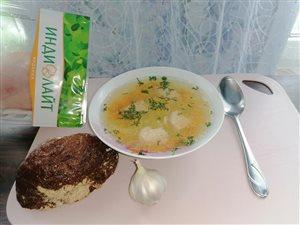 Суп из Филе грудки индейки 'Индилайт'
