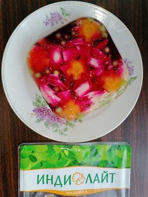 Заливное из Филе грудки индейки ' Индилайт'с овощами.