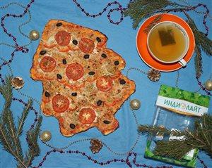 Праздничная пицца с идейкой Индилайт
