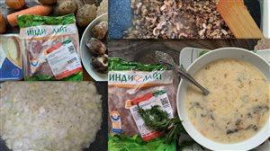 Сырный суп с индейкой.