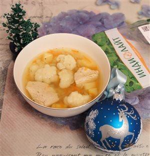 Суп лапша с индейкой 'Индилайт' и цветной капустой
