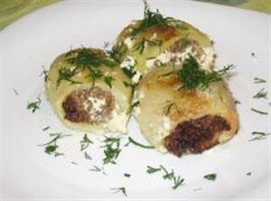 Картофель фаршированный мясным фаршем