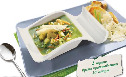 Итальянский суп с соусом песто