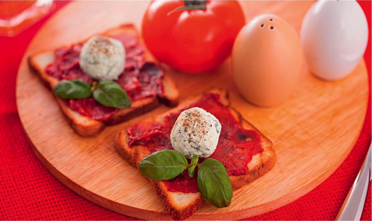 Закуска из творога с томатами