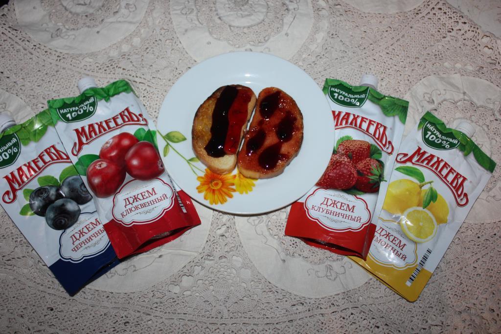 Хлебные тосты с джемом Махеев!