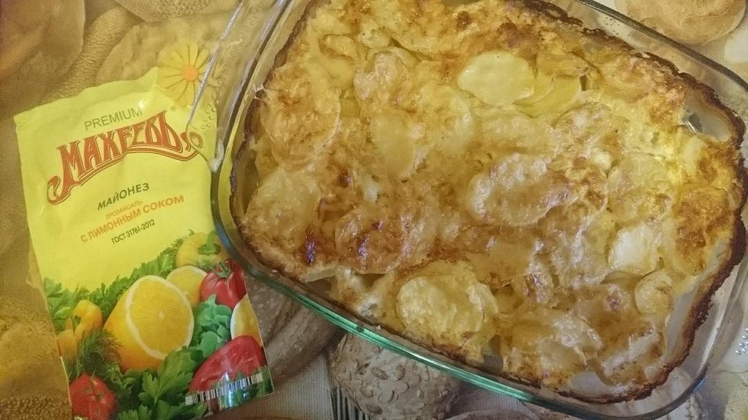 Запеченная картошка с свининой