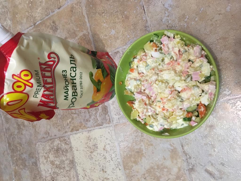 Праздничный салат Оливье
