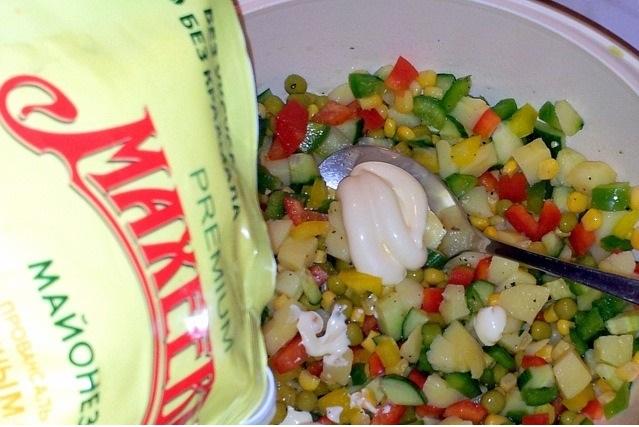 Желейный овощной салат