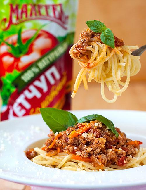 Спагети Болоньезе с красным вином