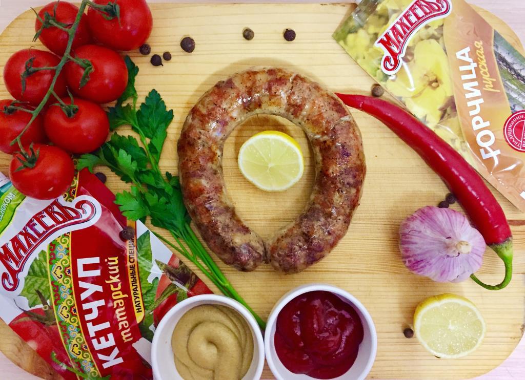 Сочная домашняя колбаса