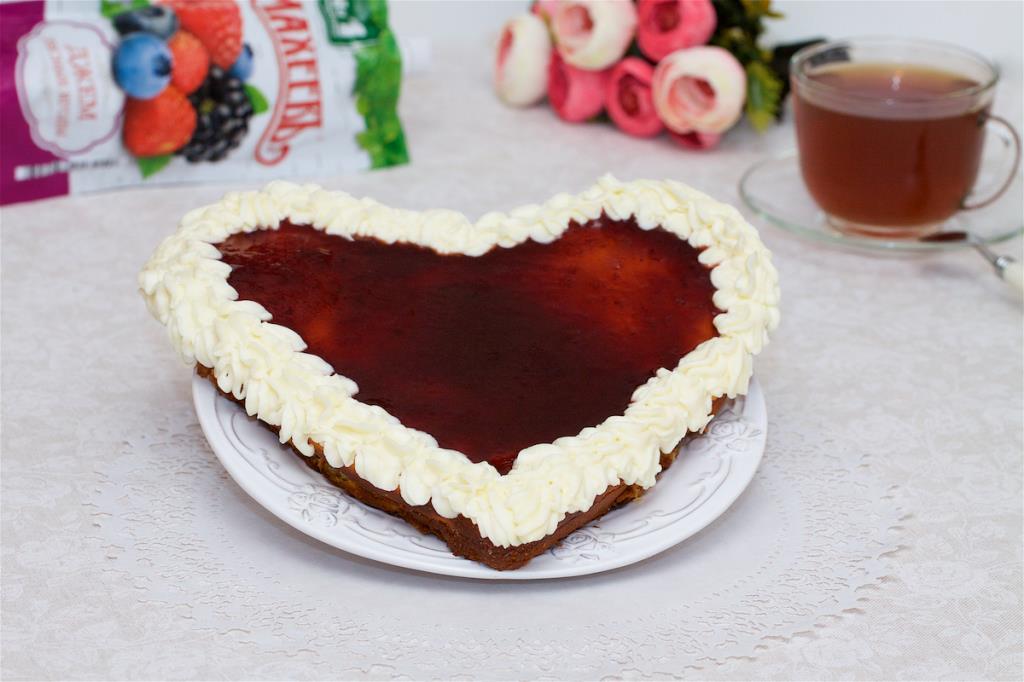 Творожная запеканка-торт с джемом ТМ МахеевЪ