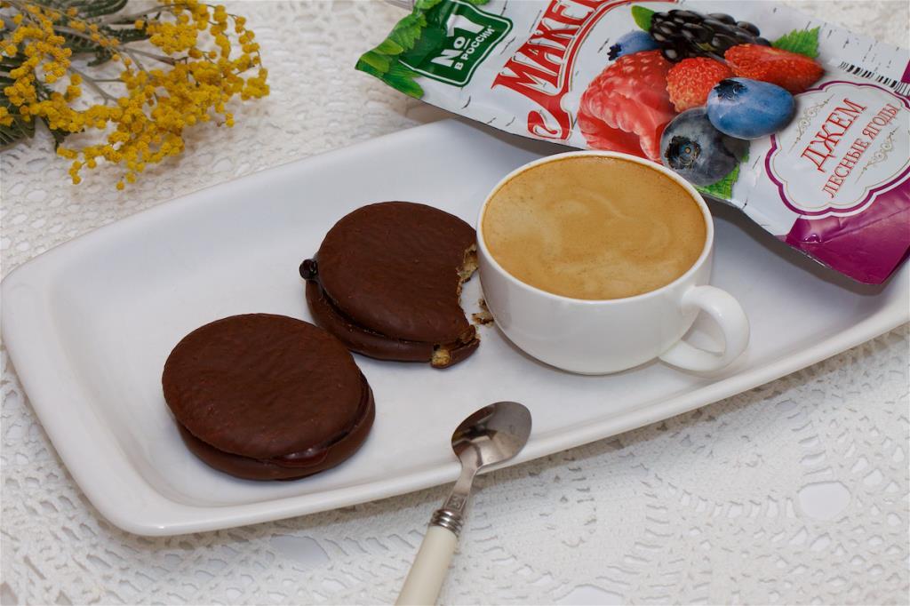 Бисквитное печенье с джемом ТМ МахеевЪ
