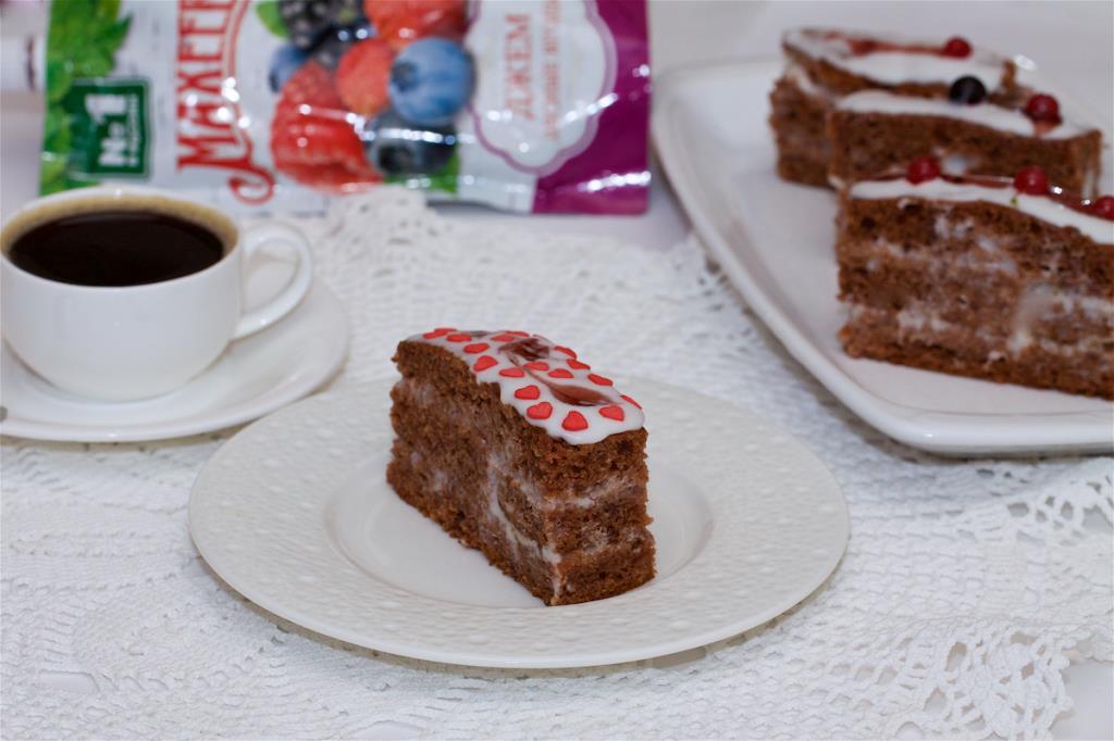 Пирожное «Трухлявый пень» с джемом ТМ МахеевЪ
