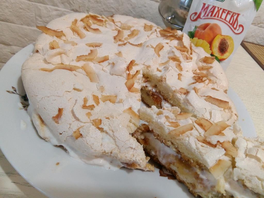 Ирландский торт с джемом МАХЕЕВ персик-манго.