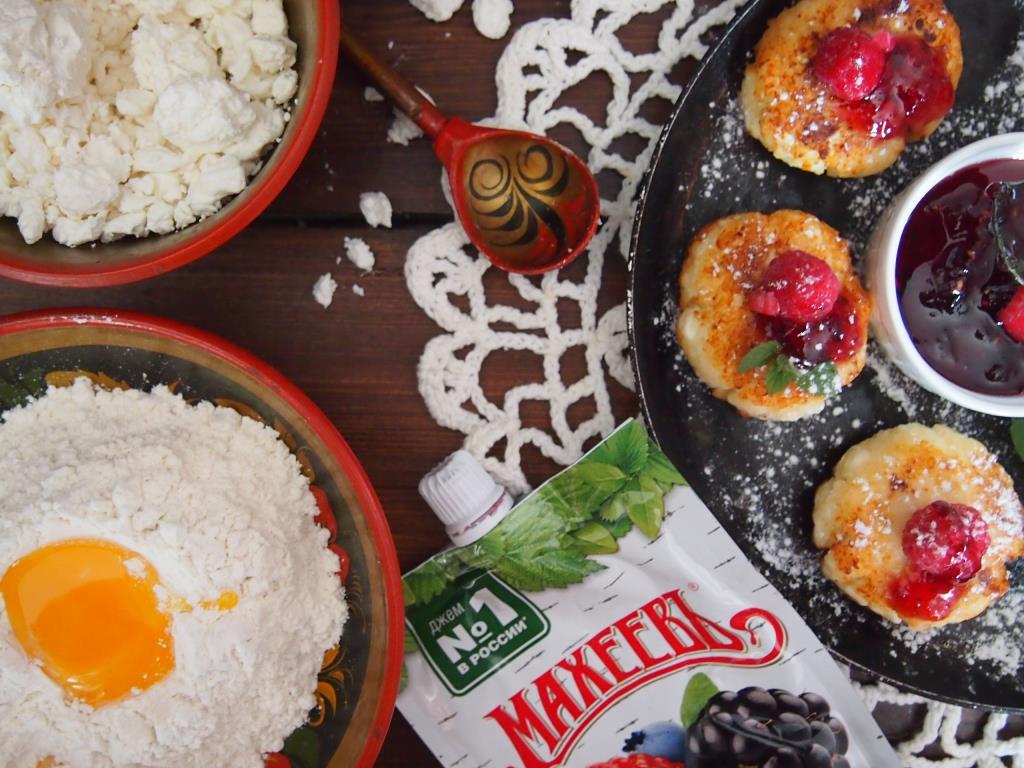 сырники для любимых с джемом махеевЪ
