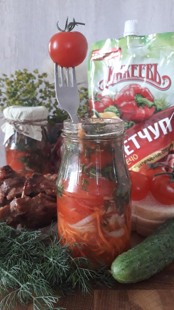 Салат в банке «Овощи в кетчуповом маринаде»