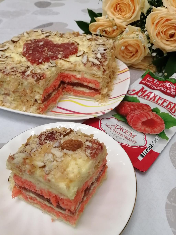 Торт «Малиновое наслаждение от МахеевЪ»