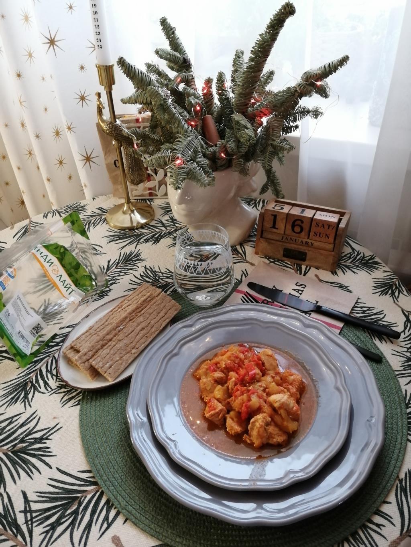 Индейка, тушёная с овощами