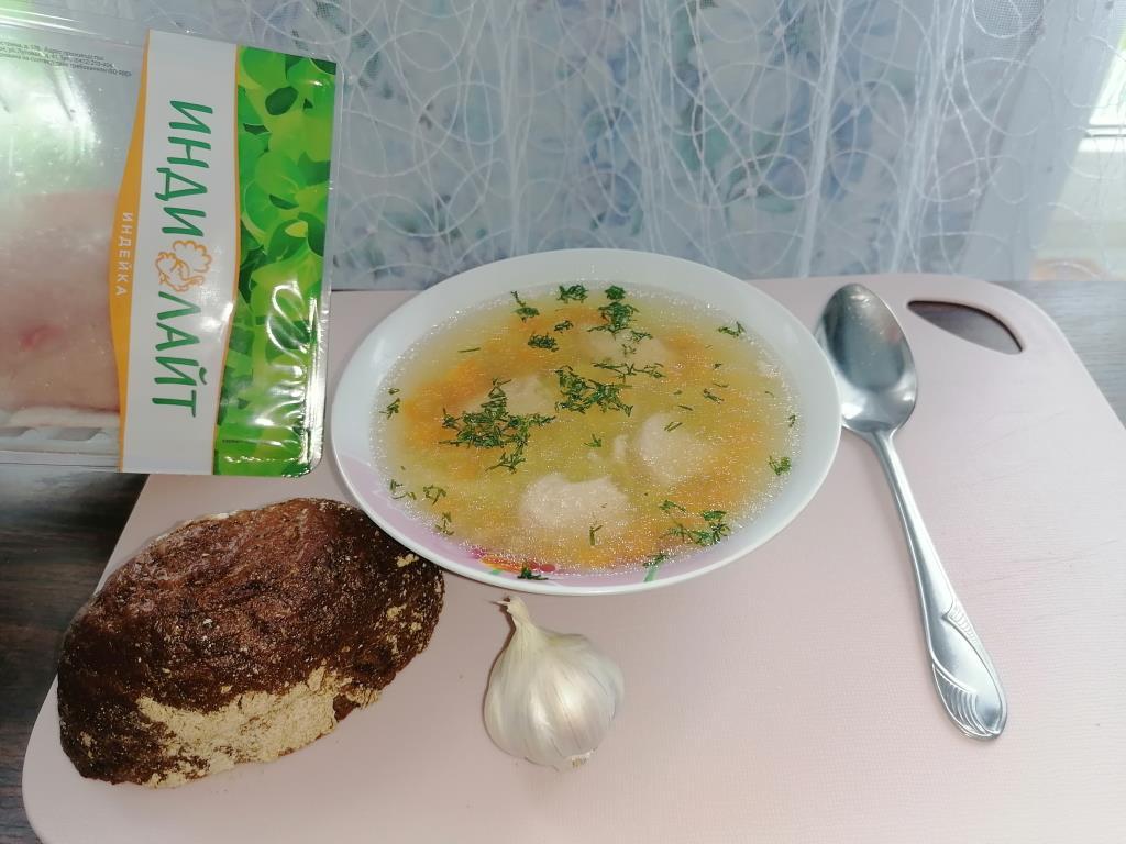 Суп из Филе грудки индейки