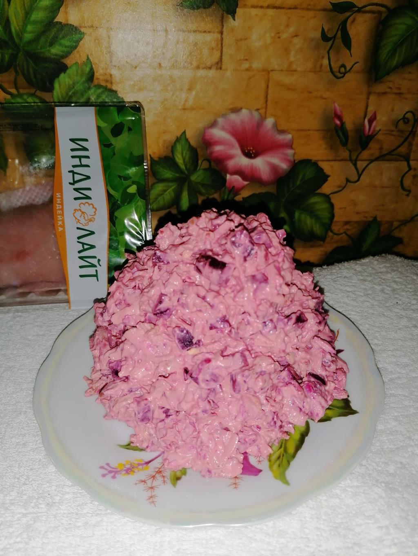 Салат из стейка индейки