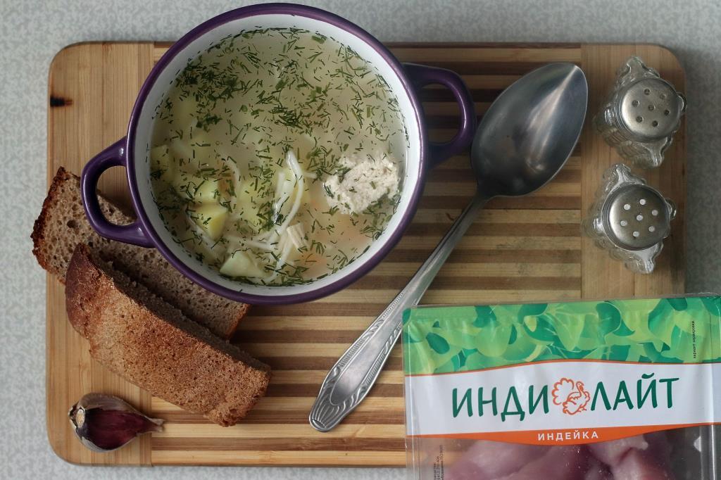 Суп из индейки с лапшой