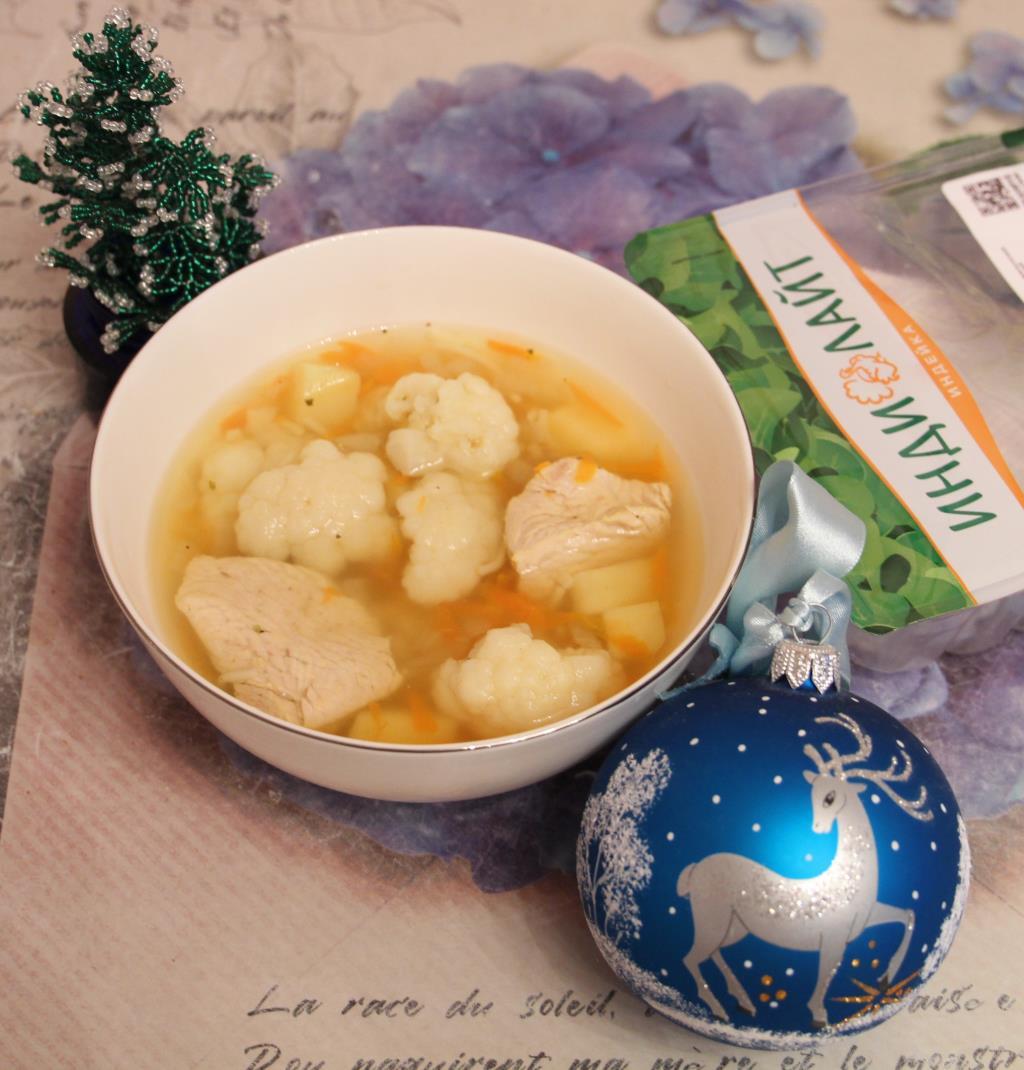 Суп лапша с индейкой