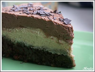 Шоколадный торт-мороженое с халвой