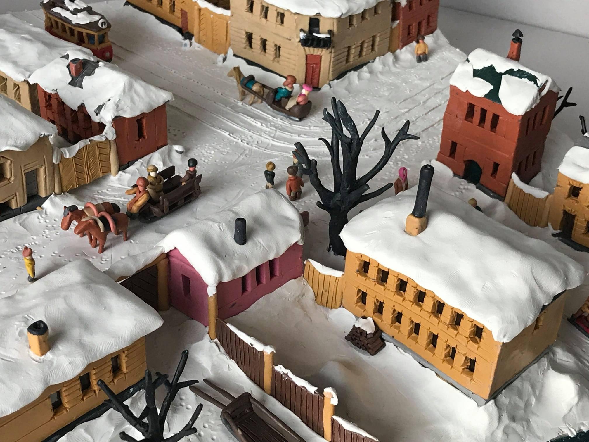 Город из пластилина. Зима в Москве
