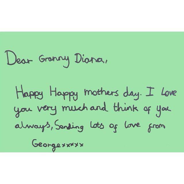 принц Джордж письмо бабушке