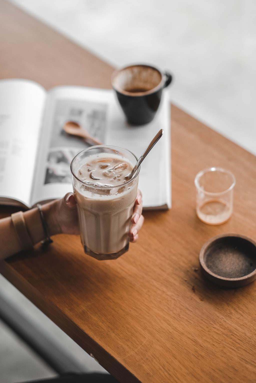 айс кофе с медом