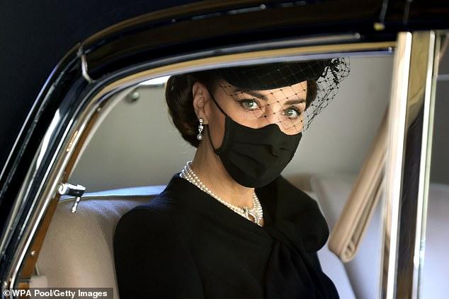 Кейт Миддлтон похороны принца Филиппа