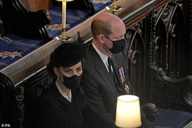 принц Уияльм Кейт похороны принца Филиппа
