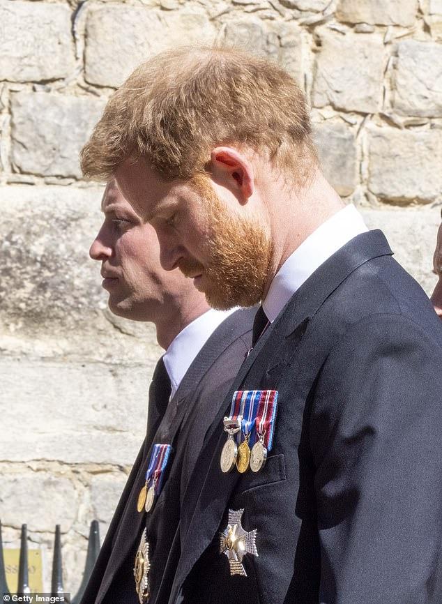 Похороны принца Филиппа принц Уильям принц Гарри