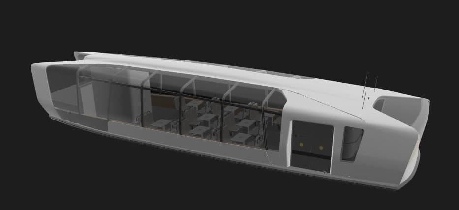 Электрический пассажирский речной трамвайчик