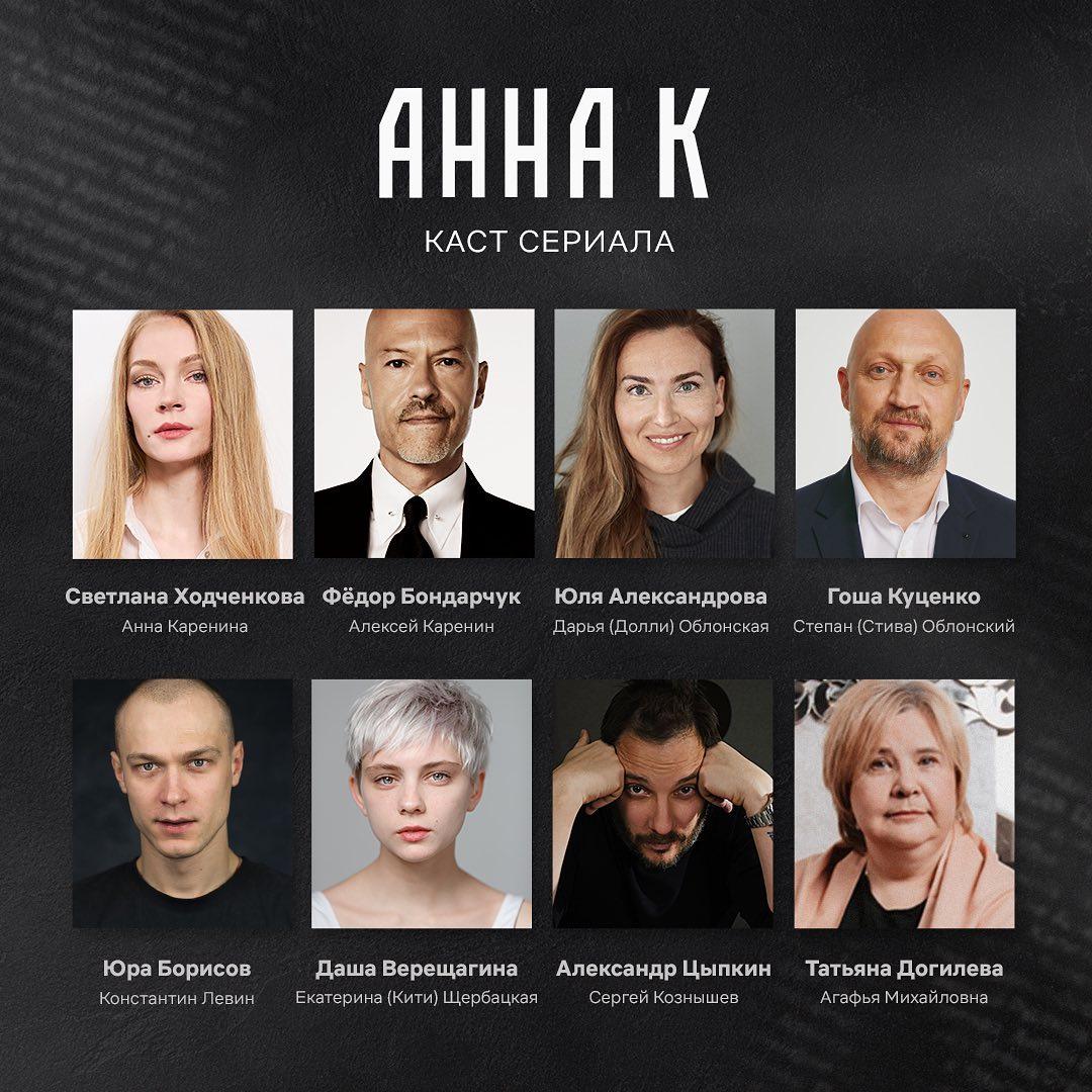Анна Каренина от Netflix: на главные роли выбраны Ходченкова, Бондарчук и Куценко